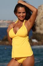 4dd3183b7b5 UjENA Swimwear Open-Back Sunshine Yellow Tankini Sexy Bikini Swimsuit N262  NWT