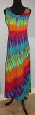 Made in the USA Womens Hippie Boho Tie Dye Dyed Tank Jersey Dress Small Medium