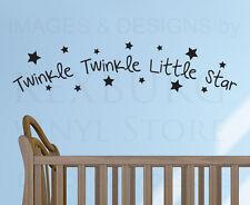 Wall Decal Quote Sticker Vinyl Art Mural Twinkle Twinkle Little Star Nursery B99