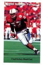 1998 Nebraska Cornhuskers Football Pocket Schedule VB cards -> You Pick 'em