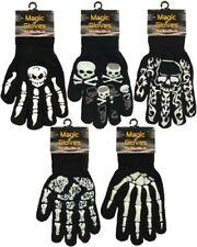 Adults/Girls/Boys Magic Skull and Crossbones Spooky Design Gripper Gloves