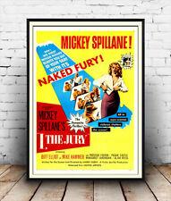 Ich die Jury, vintagefilm Werbung Poster Reproduktion.