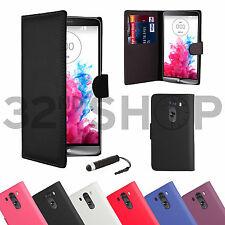 Nouveau livre Flip Portefeuille PU Cuir Etui Housse pour LG G3 + protecteur d'écran et stylet