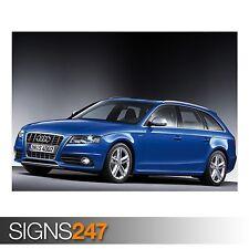 AUDI S4 AVANT CAR 14 (AC909) CAR POSTER - Photo Poster Print Art A0 A1 A2 A3 A4