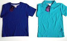 Zara home boy liberty art imprimé fleuri bleu bordure t-shirt polo top 1-5y £ 19.99