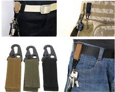 AU SELLER - Tactical Molle Key Hook Hanging Belt Buckle Clip Carabiner + Keyring