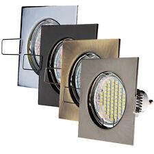 LED Einbau-strahler GU10 Starr Eckig Einbauleuchte Set 1, 3, 5, 10 LED PORTO