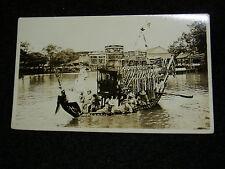 DC:Real Photo Postcard-Shanghai? Hong Kong? Royal Barge? 1920s