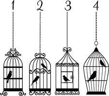 Bird Cage Autocollant Vinyle Mur Autocollant Art Chambre