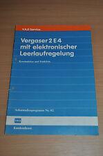 Selbststudienprogramm SSP 82 VW AUDI Vergaser 2E4 elekt. Leerlaufregelung 1986