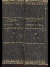 DIZIONARIO TEDESCO-ITALIANO/ITALIANO-TEDESCO 2 VOLUMI  C.G.JAGEMANN