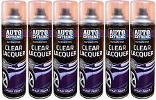 1- 6x Clear Lacquer Aerosol Spray Can Car Van Auto Spray Paint Interior Exterior
