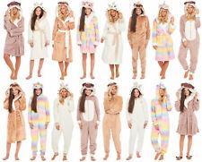 Christmas Fleece Dressing Gown Onezee Ladies Girls Matching Family Mum Daughter