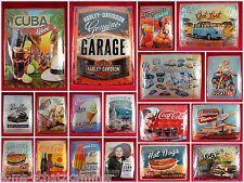 Tôle plaque motifs différents 30x40 Nostalgic type rétro vintage publicité Bouclier
