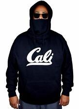 Men's White Cali Mask Hoodie Cali Life California Republic Bear Sweater Jacket
