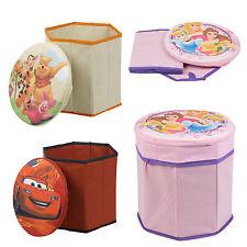 PERSONAGGI DISNEY poggiapiedi con spazio portaoggetti BAMBINI POUF CAMERA DA LETTO SEDIA Kids SEAT BOX