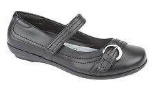 U.S.Brass Girls G 746A VALERIE II Touch Fastening Buckle/Bar Black School Shoes