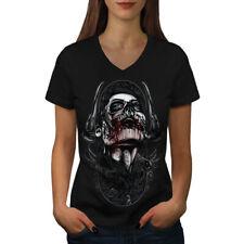 Skull Blood Sugar Fantasy Women V-Neck T-shirt NEW | Wellcoda