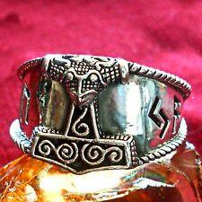 Thor Hammer anillo 925 plata vikingo LARP Asatru Escania