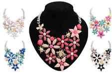 Bohemia Resin Crystal Cluster Flower Bee Collar Bib Statement Necklace Crew P37