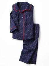 NWT BABY GAP GIRL'S NAVY BLUE STAR PRINT CLASSIC PJ'S SET 100% COTTON