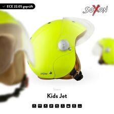SOXON SK-55 Kids Neon - Jethelm Vespa Roller Motorradhelm Bobber - Kinder ECE