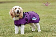 WeatherBeeta DELUXE Hundemantel 420 D mit Fleecefutter 30 cm bis 60 cm violett