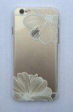 Carcasa flexible con estampado para iPhone 6/ 6S ( 4,7'') - Flores Blancas