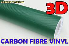 【GREEN 1.27 Meter X 0.1 Meter】 CARBON FIBER Wrap Vinyl  for roof bonnet