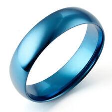 US Sz4-16 Men Women Blue Wedding Anniversary Titanium Rings / Set