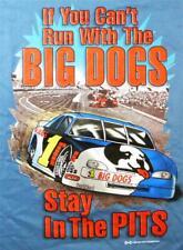Big Dogs Tee Shirt If Can't Run Stay in Pits Race Car L XL 3X 4X Denim Blue