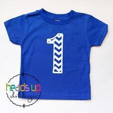 1st Birthday Shirt Baby Boy/Girl First Bday Trendy Chevron One Cake Smash Tee 1