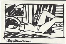 Tom Wesselmann 'Amy in bedroom' Original handsigned study drawing - Provenance