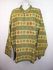 Hippy Hare Rama Om Ganesh Hindu Yoga Shirt Kurta Top Unisex Handmade Nepal HO1