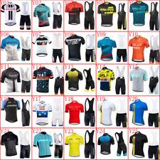 2019 Men Cycling Jersey Set Bike Shirt Bib Shorts Kit Short Sleeve Sport Uniform