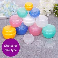 Empty Multi-Color & Size Jar Pot Cosmetic Cream Container Screw Lid