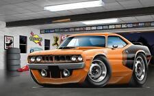 1971 Plymouth Cuda 440 Muscle Car Art Print NEW