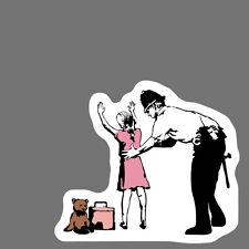 Banksy Sticker Decal vinyl graffiti street art police stop search girl cop obey