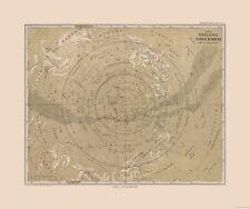 Old World Map - Southern Sky - Stielers  1885 - 27.55 x 23