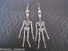 Big long squelette articulé charme SP pendants d'oreilles Halloween Déguisements Crâne