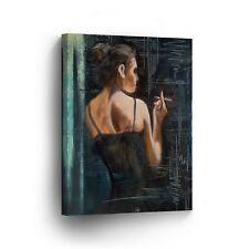 Modern Oil Painting on Canvas Print Wall Decor Art Framed %100 Handmade OPV11