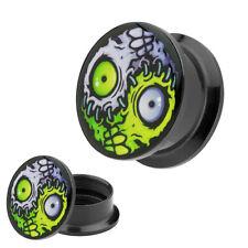 Picture Ohr Plug Motiv Monster Yin Yang Horror Augen