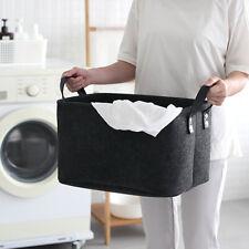 Large Storage Basket Fabric Organizer Bin Box Socks Underwear Toys Laundry Bag