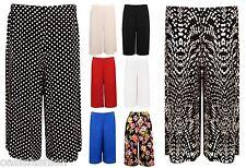 Femmes À Élastique Années 70 Jambe Large Pantalon Longueur Genou Palazzo