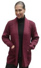Women's Soft Warm Alpaca Wool Knitted Knit Open Coat Cardigan Sweater Peru Sz L