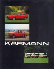 KARMANN VW Scirocco 2 Golf 1 & Camper vans brochure