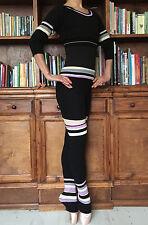 Set di Donna Ragazza Ballerine Danza Fitness Maglia Riscaldamento Top + shorts + Scaldamuscoli