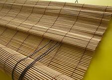 Bambus Vorhang Kirschbaum Bambusrollo Holzrollo Sichtschutz Rollo Stäbchenrollo