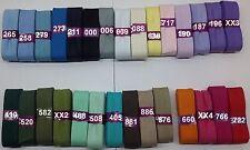 Schrägband 2cm (€1,10/m) 3m Baumwolle gefalzt viele Farben Neu OVP