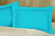 2 Piece Pair Soft Solid Pillow Sham 1000TC 100% Egyptian Cotton All Size & Color